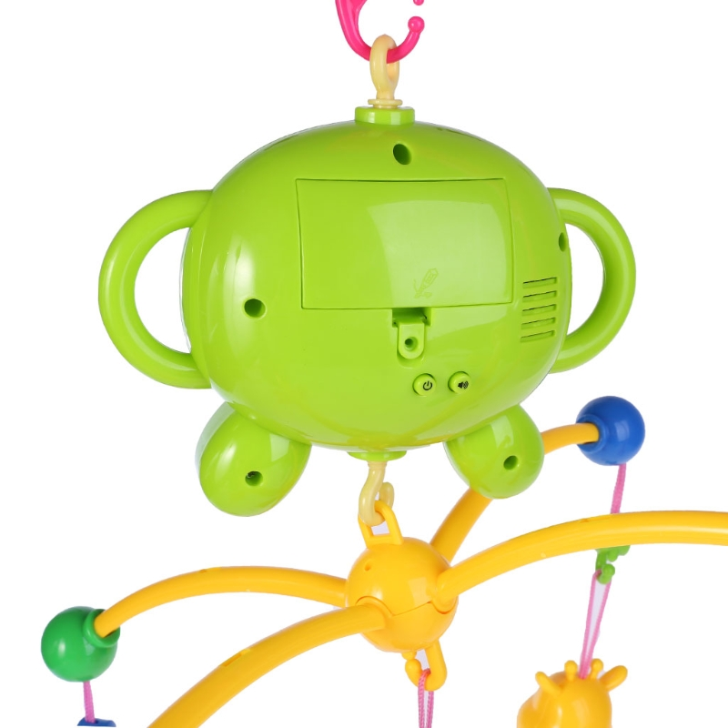 Baby Crib Mobile Musical Bed Bell Cartoon Toy Hanging Rattles Educational Toys