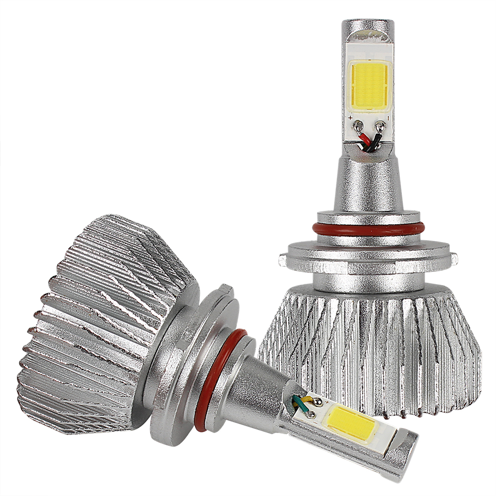 2pcs Conversion Light 9006 Car LED Headlight Headlamp COB 4400LM 12V 6000K High Quality All In One C6 series Head Light 2pcs 4400lm 12v 6000k all in one 9006 head light cob conversion light unviersal c6 series car led headlight headlamp