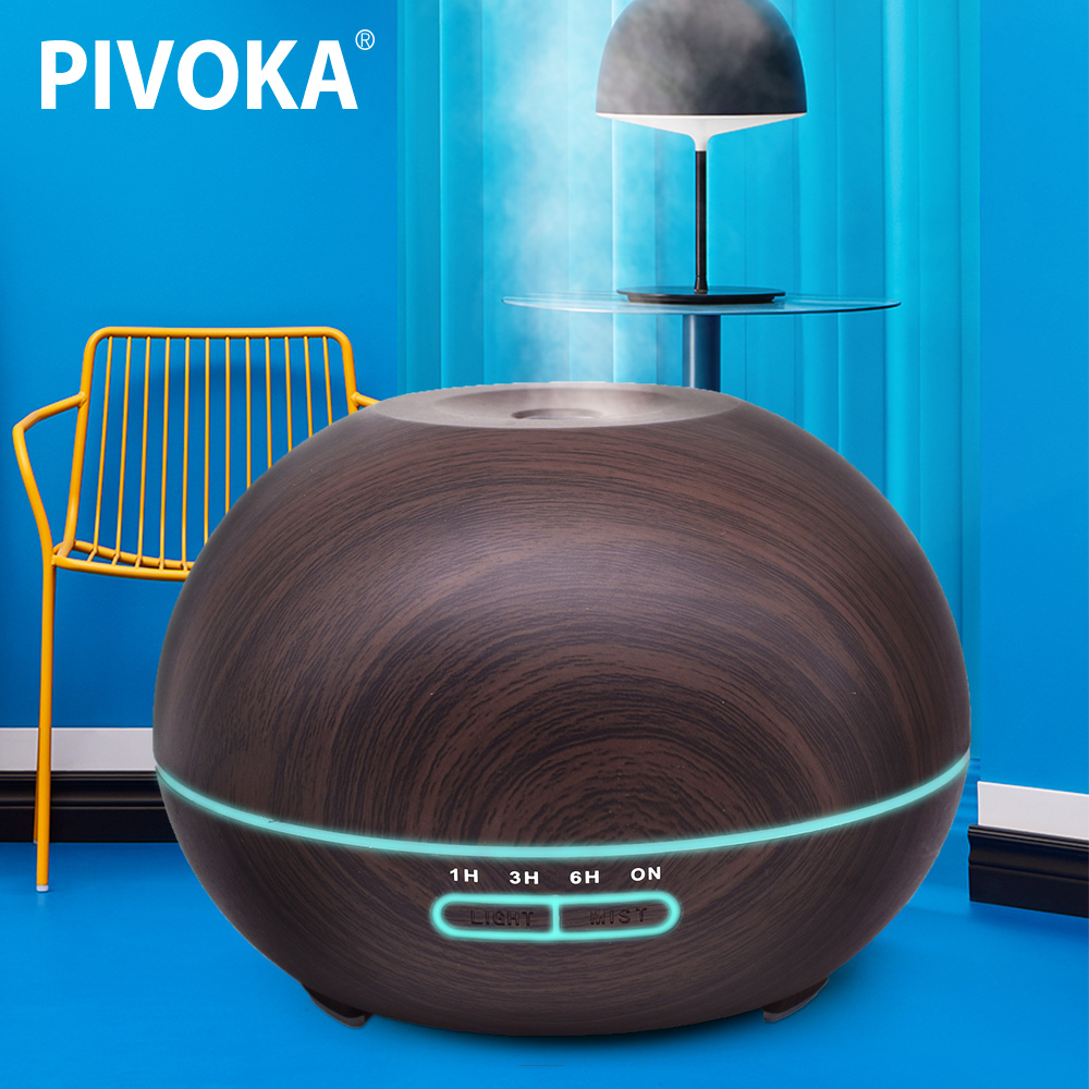 все цены на PIVOKA 550 ML Ultrasonic Timing Led Wood Grain Air Humidifier Aromatic Diffuser Aromatherapy Light Oil Treatment