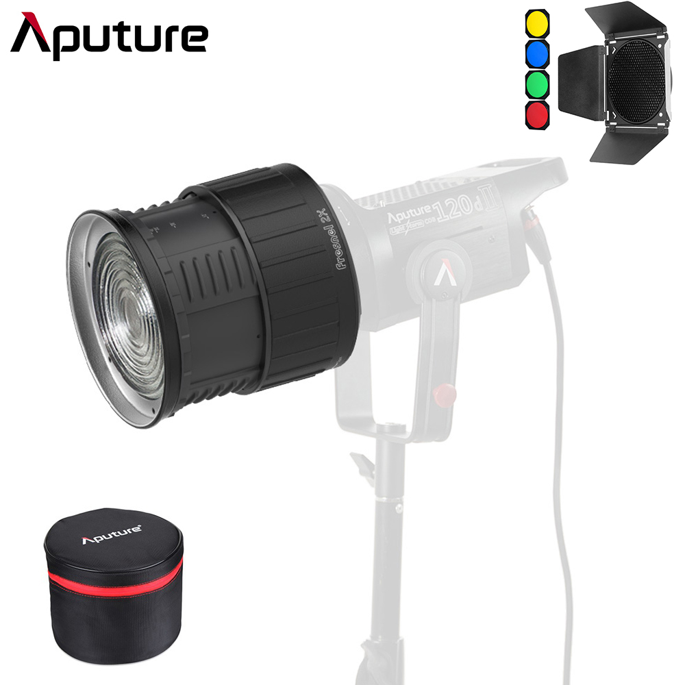 Aputure Fresnel 2X Bowen S Mount Light A Multi Functional Light Shaping Tool with Barn Door