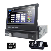 Горячая 1 din универсальный dvd-плеер автомобиля 7-дюймовый цифровой Сенсорный экран авто Радио Bluetooth моторизованный Экран CD DVD SD AM