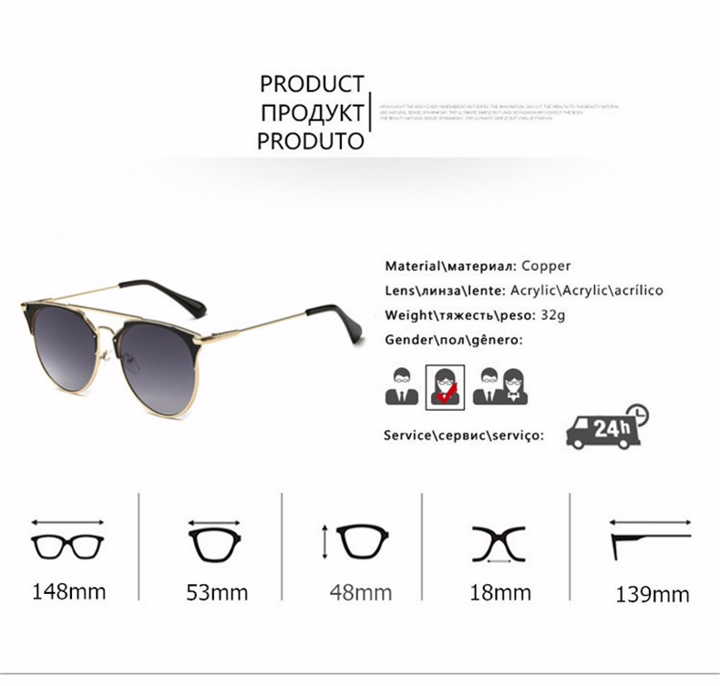 HTB1hI8CeoRIWKJjSZFgq6zoxXXa1 - Luxury Vintage Round Sunglasses Women Brand Designer 2018 Cat Eye Sunglasses Sun Glasses For Women Female Ladies Sunglass Mirror