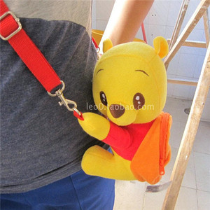 Image 2 - Cartoon Rilakkuma Bear Oblique satchel plush across the purse Crown pig wallet Stitch Zero wallet Winnie the pooh plush purse