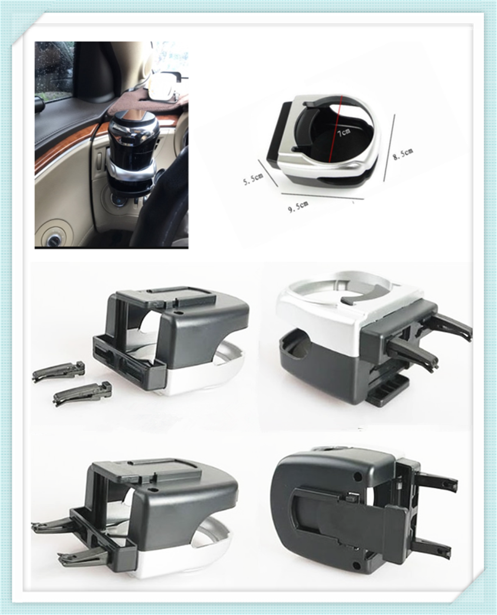 Auto parts conditioning air outlet coffee drink rack water cup holder for Nissan NV200 Nuvu NV2500 Forum Denki 350Z Zaroot image
