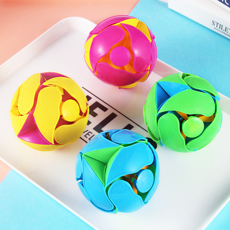 Creative Toy Stress Relief Toys Ball Children Hand Toy Transform Toys Colorful Ball Magic Puzzle Toys Kids Toy Educational