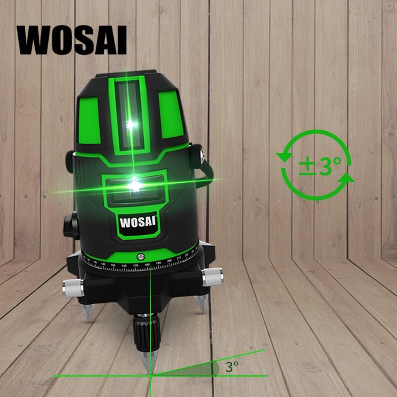 WOSAI Green Laser Level 5 linii 6 punktów Laser Level Automatyczne - Przyrządy pomiarowe - Zdjęcie 4