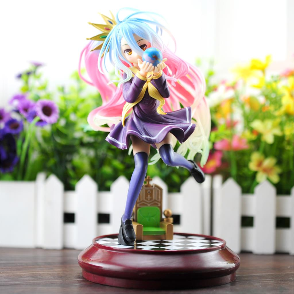 цена на Action Figure No Game No Life Imanity Shiro Figure Toy PVC Action Figures Collectible Model Toys 22cm KT1823