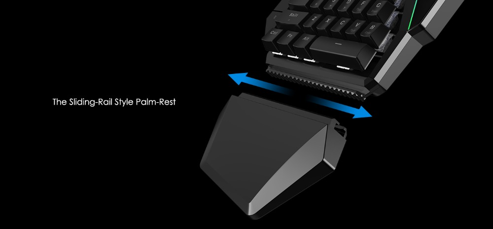 Mini Mechanical Blue Switches PC Gaming Keypad for FPS Games, One-hand Keyboard with LED light - GK100 10