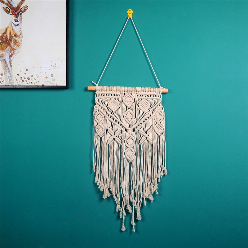 Macrame Wall Hanging Nordic Macrame Cotton Tapestry Giant Tapestry Bed room Dwelling Get together Marriage ceremony Ornament Present For Ladies Males