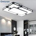 Omicron квадратный современный минималистичный светодиодный потолочный светильник акриловый белый и черный светодиодные лампы для гостиной ...