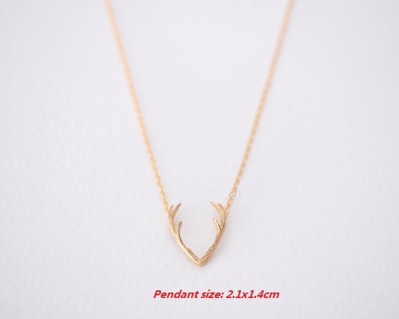 10Pcs/lot 2016 Fashion Wholesale Horn Necklaces Antler Animal Necklaces Pendants for Women Minimalist Necklaces Chokers Necklace