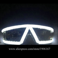 Fashion Night Club Bars Stage Costume Sunglasses LED Luminous Flashing Stage Glasses Event & Party Supplies