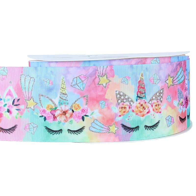 Wholesale sparkling rainbow unicorn grosgrain ribbon for ...
