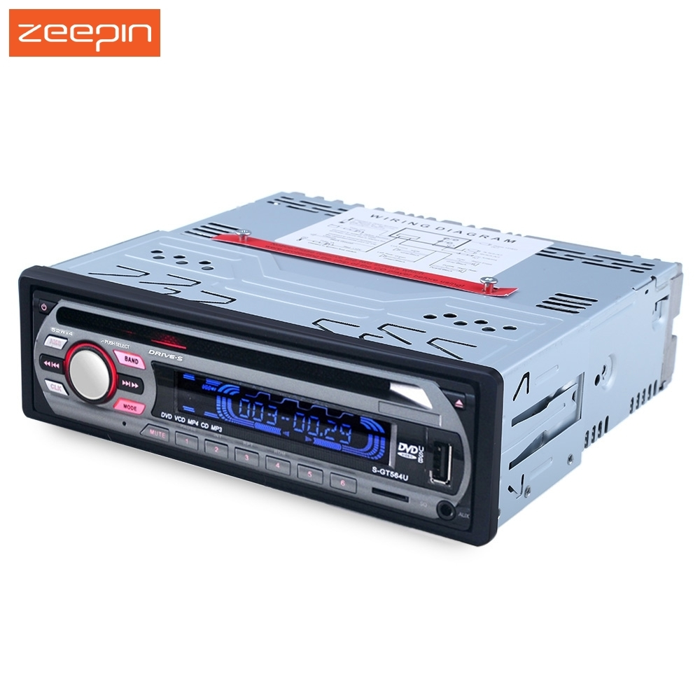 New 564U Car Audio Stereo Support FM USB SD DVD Mp3 Player AUX Mic with Remote Control TF available car dvd cd mp3 player 12v car audio stereo support usb sd mp3 player aux dvd vcd cd player with remote control 2018 new