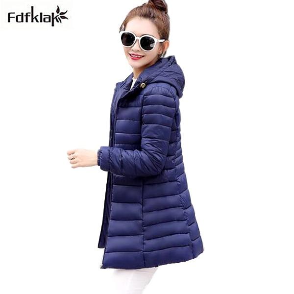 Down     Coat   Women Ultra Light   Down   Jacket 2017 Winter Hooded Thin Long Parkas Woman's Winter Jackets Female   Coats   Plus Size 3XL