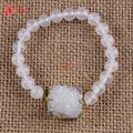 YGB 1 PCS Cristal de Rocha de Quartzo Drusy Ágata Pedra Connector Druzy Pulseiras Presente Da Jóia