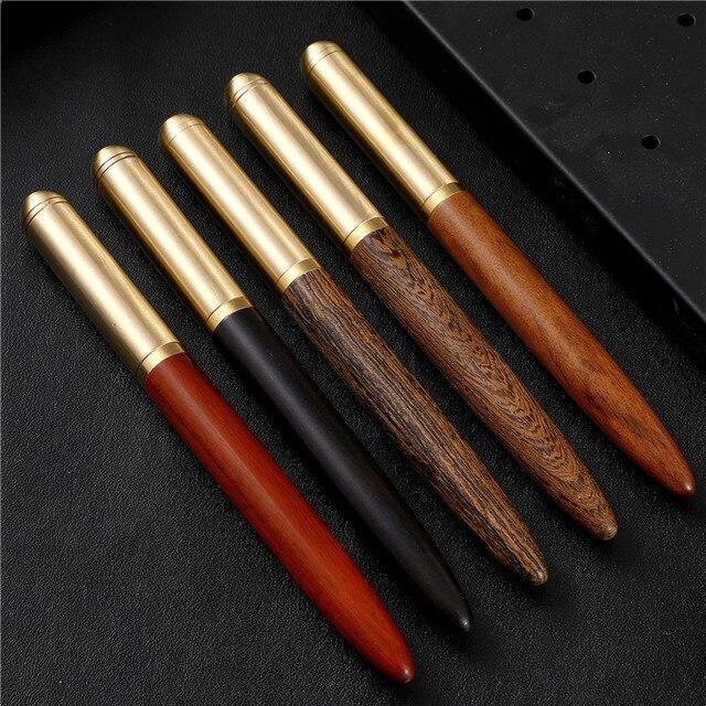 1 piezas de madera de lujo pluma Kawaii papelería de la escuela de los hombres de gama alta, regalos creativos, Oficina firma pluma Dolma kalem suministros