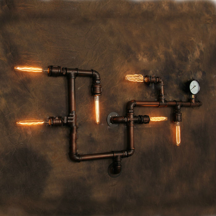 Industrial Pipe Wall Light: Aliexpress.com : Buy Vintage Wall Lamp American Style