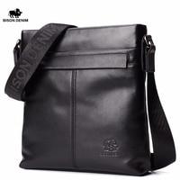 Bison Denim Stylish Top Genuine Leather Men S Briefcase Business Small Vertical Shoulder Bag