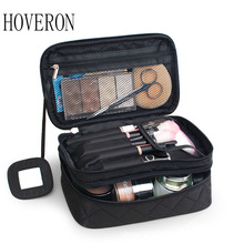woman cosmetic bag double waterproof Makeup travel organizer cosmetologist case multi-function storage  toiletry
