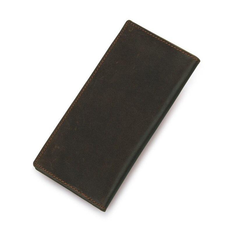 Hommes Vintage porte-carte de crédit bloquant Rfid portefeuille en cuir unisexe portefeuille de sécurité en cuir
