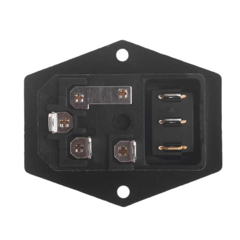 1 ST 10A 250 V 3 Pin IEC320 C14 AC Inlet Man Plug Stopcontact Met Zekering Schakelaar