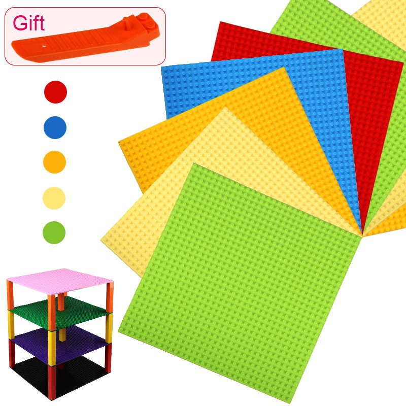 NEW Colors Small Blocks Building DIY Baseplates 32*32 Dots Base plate Size 25*25cm Toys Compatible with puzzle smartable base plate for small bricks baseplates 50 50 dots diy building blocks compatible legoing toys christmas gift 2pcs lot