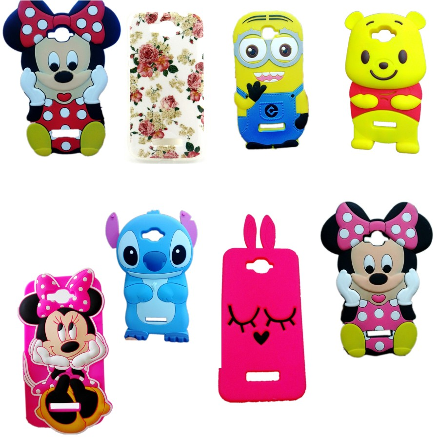 Alcatel POP C7 Case 3D Cartoon Stitch Soft Silicone Back Cover One Touch OT 7040D 7041D 7040 OT7040D
