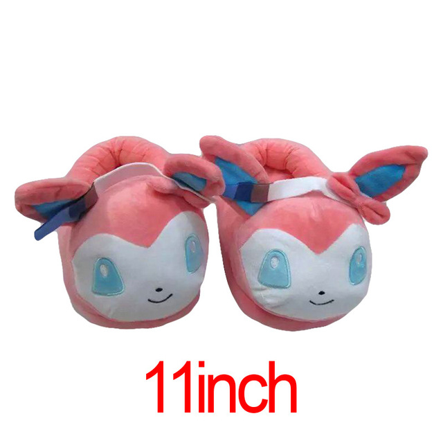 Winter Men or Women Cartoon Pokemon Slippers Elf Ball Pikachu Pokemon Go Plush Shoes Warm House Slippers 1