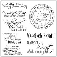 Polish language Transparent Clear Silicone Stamp/Seal for DIY scrapbooking/photo album Decorative clear stamps