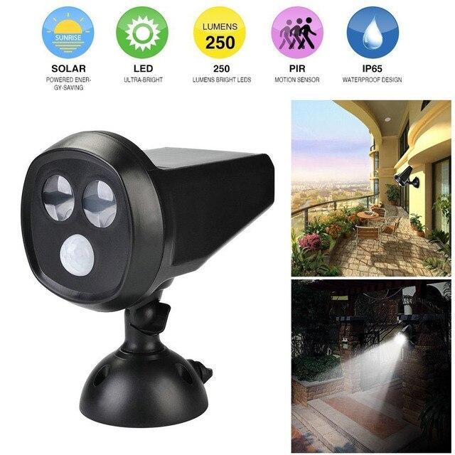 LED Motion Sensor Light   Wireless Spotlight Solar Motion Light   Solar  Powered Outdoor Lamp