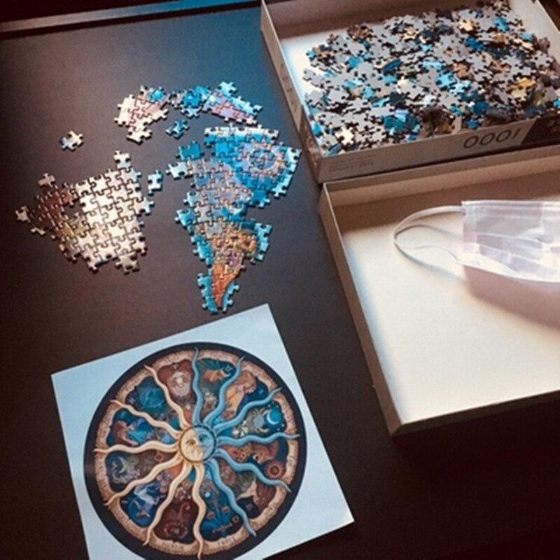 1000 pièces Zodiaque Horoscope Puzzle Jouets adualt Enfants puzzle Raphaël bricolage Constellation Puzzles Cadeau De Luxe pour Les Fans-in Puzzles from Jeux et loisirs    3
