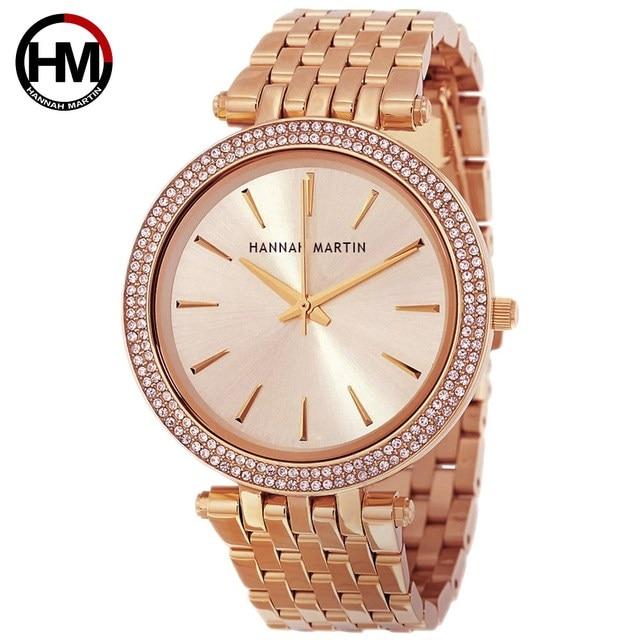 Fashion Quartz Watches Women Hot New Top Brand Luxury Rose Gold Diamond Business Waterproof Ladies Wristwatch Relogio Feminino