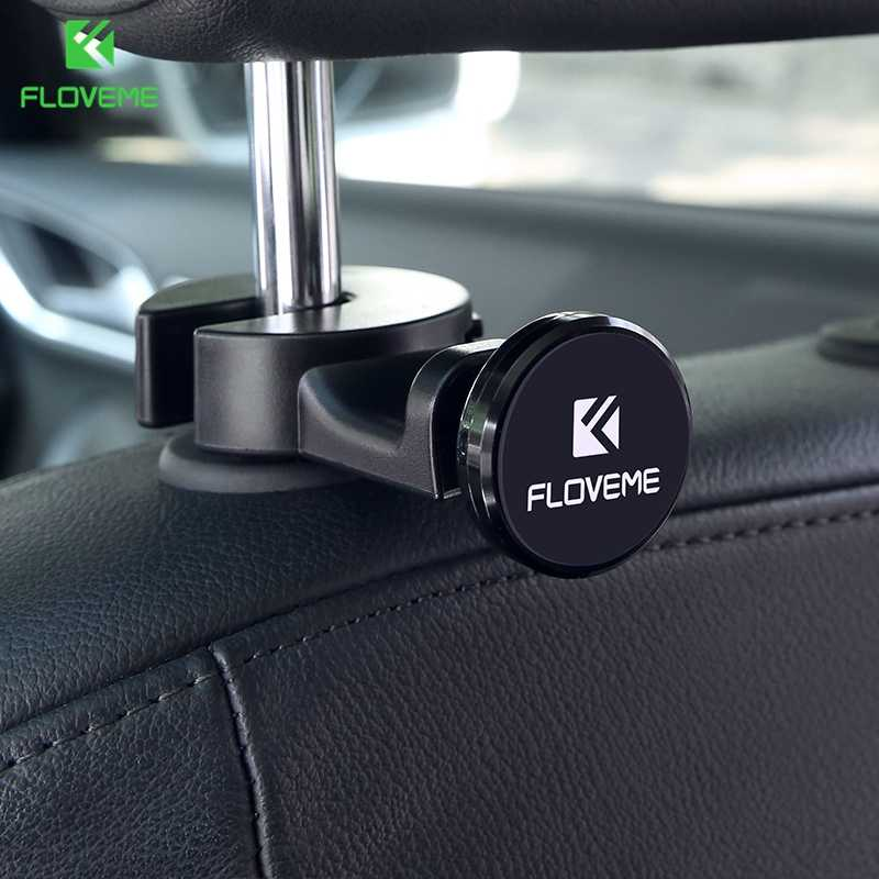 FLOVEME 360 Rotate Car Phone Holder Universal Magnetic Seat Headrest Mount Magnetism Mobile Phone Holder For Phones and Tablet