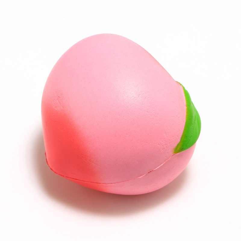 Colossal Pêssegos Creme Perfumado Mole mole Super Lento Subindo Squeeze Stress Relief Brinquedos Presente de Natal Do Partido para As Crianças 10*9CM