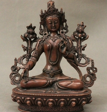 Tibet Bronze White Tara 7 eyes White Tara spirit of Compassion Goddess Sculpture