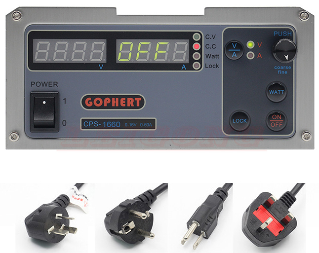 CPS-1660 Digital Adjustable DC Power Supply Switching power supply (EU US UK AU) free ship small volume cps 6011 60v 11a high efficiency adjustable dc power supply stabilized voltage supply