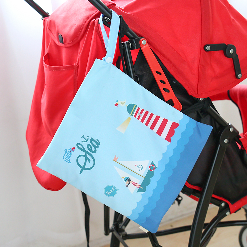 30*28CM Single Pocket Wet Bag Baby Cloth Diaper Bag Waterproof Reusable Nappy Bags Small Size Mummy Dry Bag Wholesale