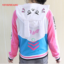 Costume Adult Hoodie Jacket Baseball D.va Cosplay Sweatshirt Anime Clothes VEVEFHUANG