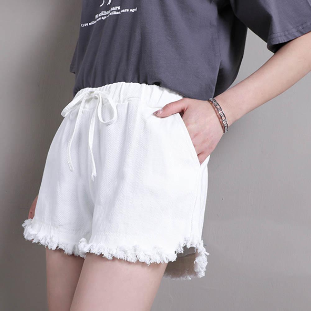 Womens High Waist Hot Pants Cotton Slim Shorts Summer Beach Casual Short Pant For Women(China)