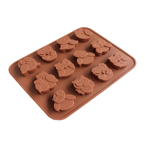 Dropshipping 12 Owls Silicone Cake Bread Chocolate Jelly Candy Baking Mould Craft Mold Pakistan