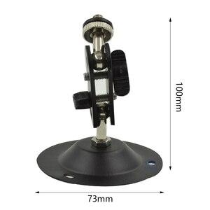 Image 5 - حامل شاشة أمن داخلي في الهواء الطلق قابل للتعديل جدار جبل قوس كاميرا 360 درجة اكسسوارات الروتاري الأسود العالمي