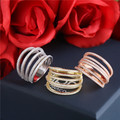 925 sterling silver ring inlaid CZ micro fashion jewelry women jewelry line