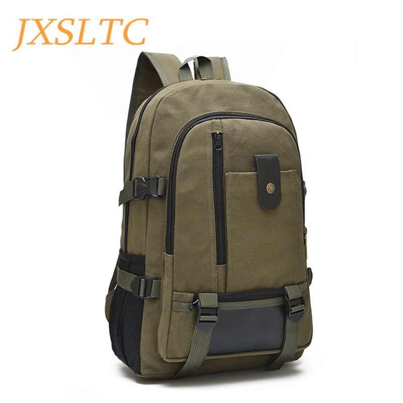 JXSLTC Canvas Men's Anti Theft Backpack Bag  Vintage 14 Inch Laptop Notebook Backpack For Men Waterproof Travel Back Pack Bag