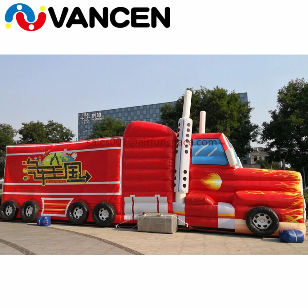 7mL Car model inflatable bouncing castle beautiful advertising inflatable bouncer castle for kids