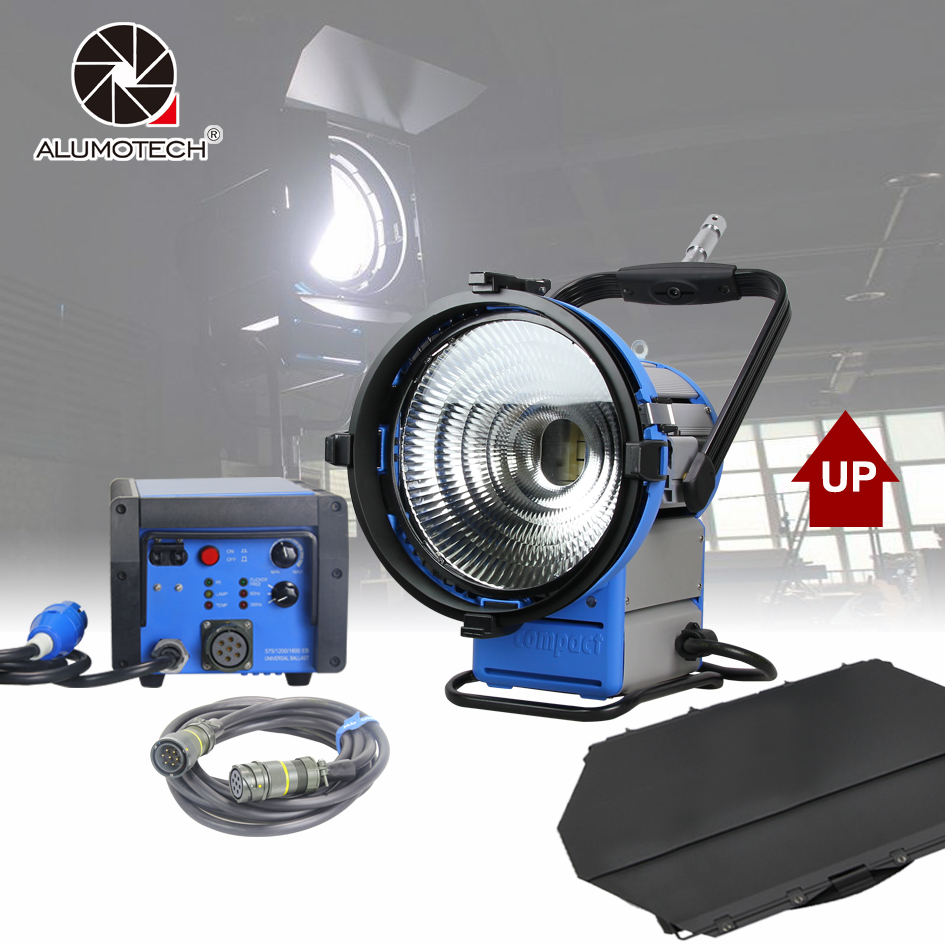 ALUMOTECH Upgraded Pro Film HMI M18 Par Light+1800W&1200W Electronic Ballast Flicker-Free+7m Cable