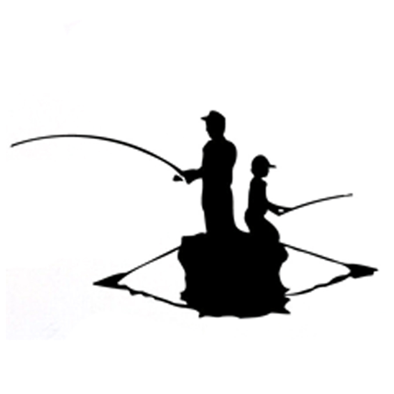 16.3CM*9.2CM Interesting Canoeing Fishing Sports Decor Silhouette Vinyl Car Sticker S9-0692
