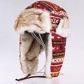 Зима bomber шляпы мужчины Русский новый искусственного меха Наушники марка теплый лэй фэн шапки женщины лыжные утолщенной холодной устойчивостью снег ушанки