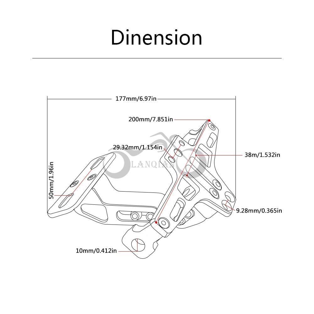 Para DUCATI Monster 695 696 796 1100/S/EVO motocicleta CNC aluminio ...