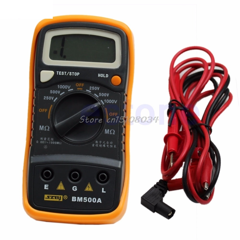 Resistance Tester BM500A 1000V 1999M Digital Insulation Meter Megohmmeter Megger G18 Drop ship new digital insulation megger tester meter vc60b 250v 500v 1000v
